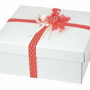 1 Stück Box quadratisch mit Deckel, 30 x 30 x 12 cm als Geschenkverpackung