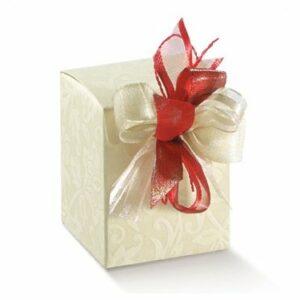 10 Stück  Kartonage SCATOLA C/FO. Diamante, creme, 50 x 50 x 60,