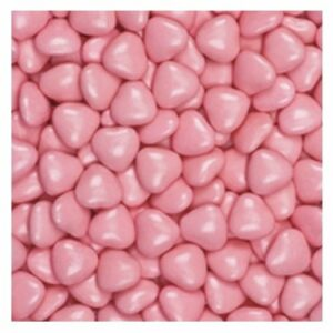 Schokolade Herzen, rosa, 15mm