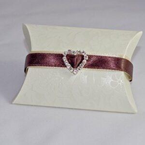 10 x Gastgeschenke 'Autum Diamond' Busta Diamante, Band braun, Dekoherz, gefüllt