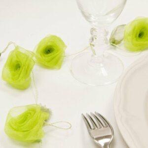 Röschengirlande apfelgrün