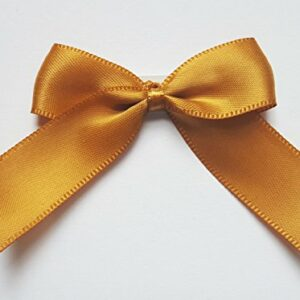 5 cm Satinschleife (Selbstklebend) 12 Stück – Antikgold