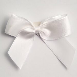 5 cm Satinschleife (Selbstklebend) 12 Stück – Weiß