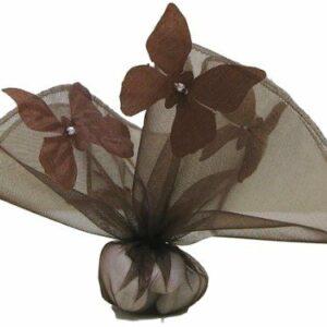 10 Stück Bonboniere Schmetterling braun