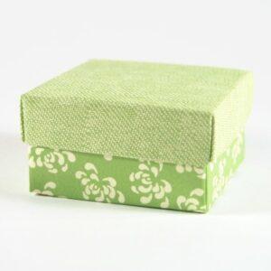 10 Stück Geschenkbox FONDO + COP. IN VERDE grün, 60x60x35 mm