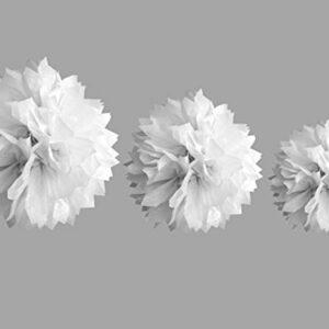 Papierbälle weiß, Größen: 20/30/40 cm