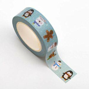 Washi Tape selbstklebend niedliches Weihnachten 15mm x 10m Rolle
