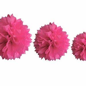 Papierbälle fuchsia,  Größen: 20/30/40 cm
