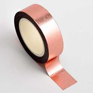 Washi Tape selbstklebend Folie glänzend Rose Gold 15mm x 10m Rolle