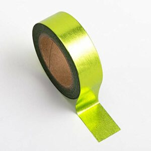 Washi Tape selbstklebend Folie glänzend Apfelgrün 15mm x 10m Rolle