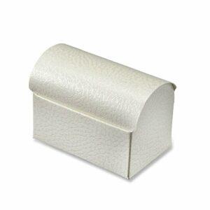 10 St Kartonage Truhe Pelle Bianco, 7 x 4,5 x 5,2 cm