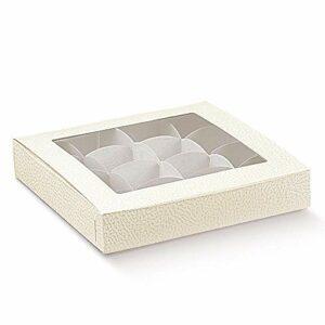 Pralinenschachteln Antik Weiß mit Einsatz für 16 Pralinen (10 Stück)