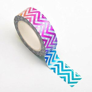 Washi Tape selbstklebend Regenbogen gezackt bunt 15mm x 10m Rolle