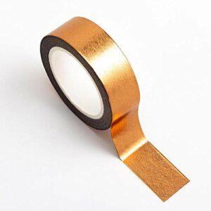 Washi Tape selbstklebend Folie glänzend Kupfer 15mm x 10m Rolle
