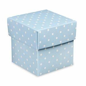 10 Stück Kartonage Fondo Dots hellblau, 5 x 5 x 5 cm