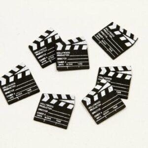 Filmklappen Tischdekoration, 24 Stück