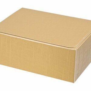 10 Stück Kartonage Rechteck Seta gold, 11,5 x 7,5 x 5 cm