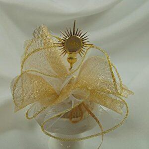 10 Stück Bonboniere mit Monstranz gold, Kommunion, Kirche