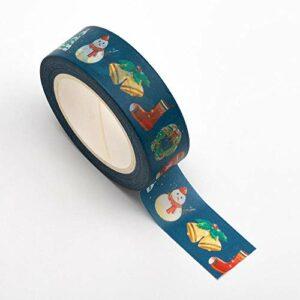Washi Tape selbstklebend Weihnachten 15mm x 10m Rolle