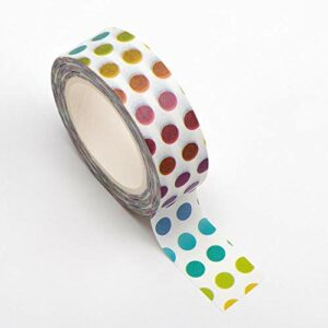 Washi Tape selbstklebend Regenbogen Punkte bunt 15mm x 10m Rolle