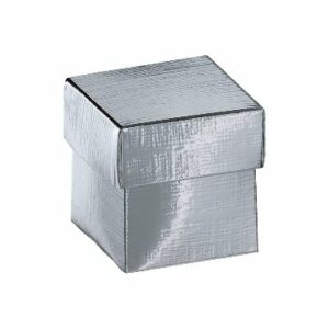 10 Stück box FONDO+COP 50 Seta silber, 50x50x50 mm