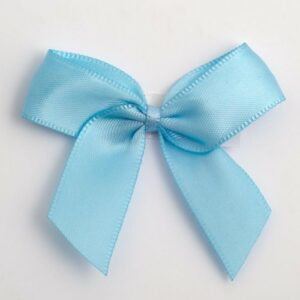 5 cm Satinschleife (Selbstklebend) 12 Stück – Hellblau