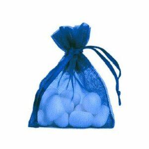 10 Stück Gastgeschenk Organzasäckchen gefüllt, royalblau, 8 x 10 cm