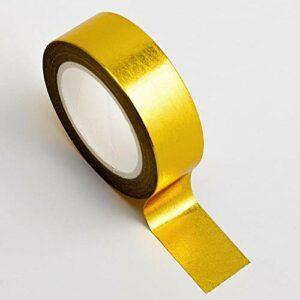 Washi Tape selbstklebend Folie glänzend Gold 15mm x 10m Rolle
