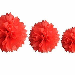 Papierbälle rot,  Größen: 20/30/40 cm
