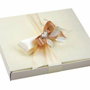 10 Stück Kartonage Scatola Seta elfenbein, 26 x 23 x 3 cm