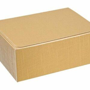 10 Stück Kartonage Rechteck Seta gold, 10,3 x 6,7 x 4,5 cm