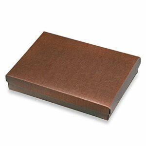 10 Stück Kartonage Rechteck mit Deckel Seta braun, 22 x 16 x 4 cm