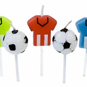 5 Fußball Kerzen