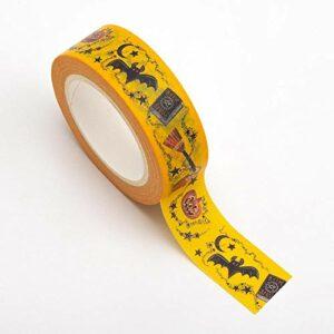 Washi Tape selbstklebend Halloween 15mm x 10m Rolle