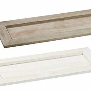 Holztablett Basic 35 x 16 x 3 cm, weiß