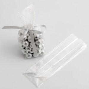 100 Stück Süßigkeitentüten, flach aus Zellophan – 6 x 5 x 20cm