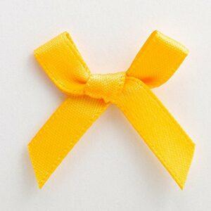 Mini Satinschleife 3cm aus 6mm Band (100 Stück) – Gelbgold – Sonnengelb