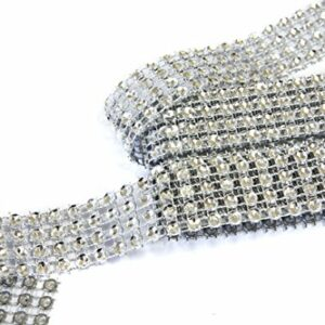Strassband, Silber,4-Reihig, 2 cm 1,80 m