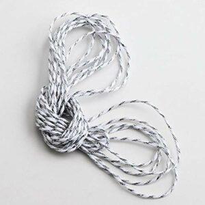 Bäckergarn, 2 mm x 50 m, Weiß mit metallischem Silberfaden