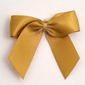 5 cm Satinschleife (Selbstklebend) 12 Stück – Gold