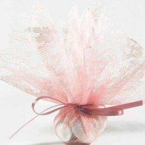 10 Stück Bonboniere Spitze rosa