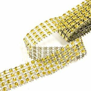 Strassband, Gold, 4-Reihig, 2 cm x 1,8 m