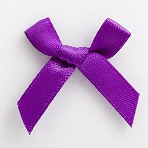 Mini Satinschleife 3cm aus 6mm Band (100 Stück) – Lila – Violett