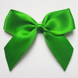 5 cm Satinschleife (Selbstklebend) 12 Stück – Grün