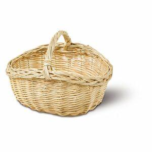 Einkaufskorb für Kinder, Korb oval, Weide Natur, Größe: 28 x 20 cm