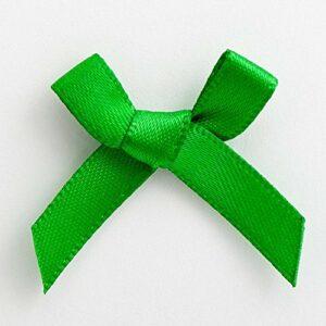 Mini Satinschleife 3cm aus 6mm Band (100 Stück) – Grün