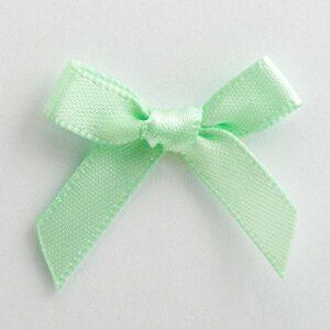 Mini Satinschleife 3cm aus 6mm Band (100 Stück) – Mintgrün