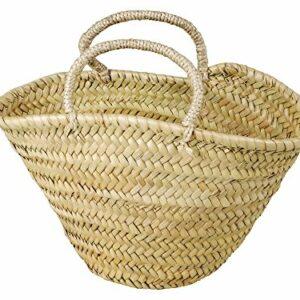 Korbtasche für Kinder oder zum Aufbewahren, Natur, Palmblatt