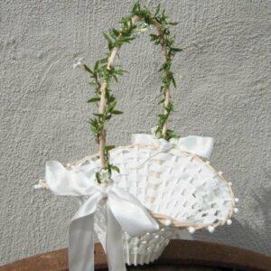 Blumenkinderkörbchen weiß -Jasmin-