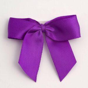5 cm Satinschleife (Selbstklebend) 12 Stück – Lila – Violett